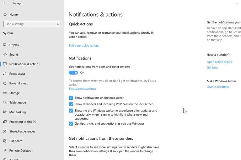 How to stop Windows 10 notification pop-ups?