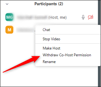 How to remove the co-host?