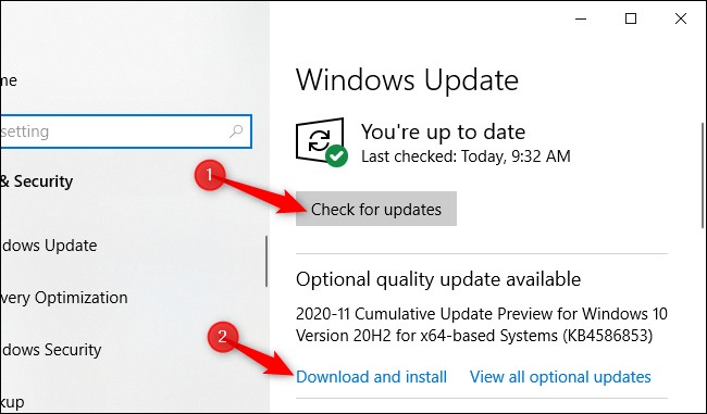 Optional Quality Update Windows 10